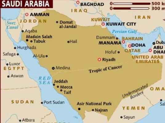 استرداد البيانات خريطة في السعودية جزيره العرب-