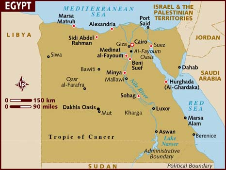 Egypt-data-recovery-map