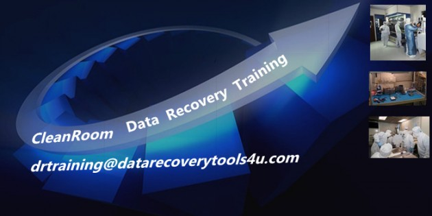 Hard drive data recovery clean room