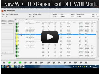 New WD HDD Repair Tool: DFL-WDII Modules Offset Shifting
