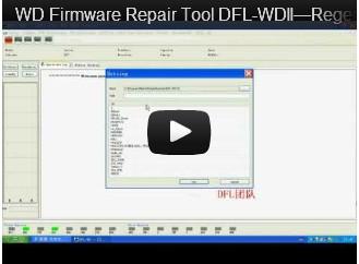 DFL-WDII, The Best WD HDD Repair Tool-Regenerate ATA Mod. Für ROYL Series im abgesicherten Modus