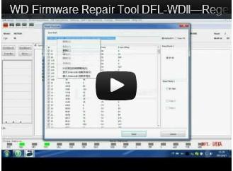 DFL-WDII, The Best WD HDD Repair Tool-Regenerate P-list