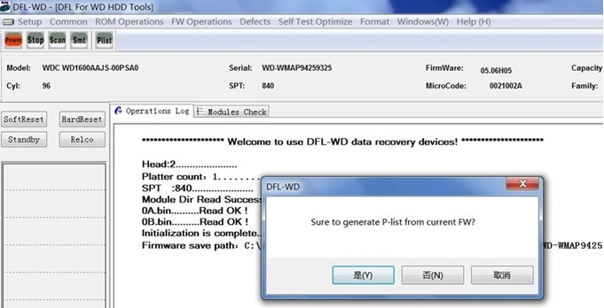 Perfect HDD Repair Solution To WD HDD P-list Damage by DFL