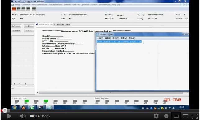 New WD HDD Repair Tool DFL-WDII: 1640 Gemeinsame Firmware Repair