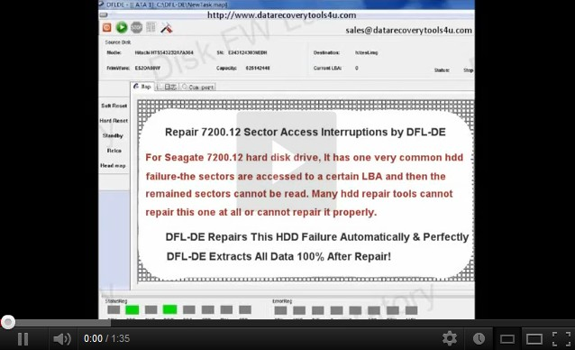 DFL-DE Data Recovery Tool-Fixing-Recovering Seagate 7200.12 HDD