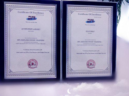 data-recovery-training-certificate-of-excellence
