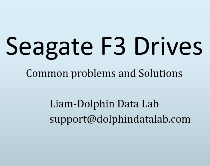 Video Training: Seagate F3 HDD Common Problems And Solutions